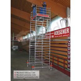 Rusztowanie aluminiowe przejezdne STABILO 500 wys rob 7,4m