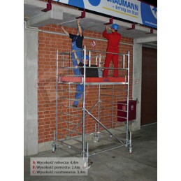 Rusztowanie aluminiowe przejezdne STABILO 500  - 4,4m