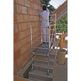Rusztowanie ClimTec wys rob. 3,0m ustawienie na schodach z kółkami